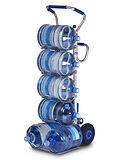 Wasserflaschentrnsporter, Wasserflaschenträger, Wasserflaschenhalter, Getränkehandel, Getränkehändler, Treppensteiger, Sackkarren, Zubehör für Sano Liftkar und Modulkar, Kaufen in der Schweiz bei Kuttex AG