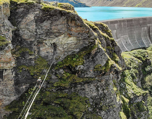Via ferrata in Moiry Dam