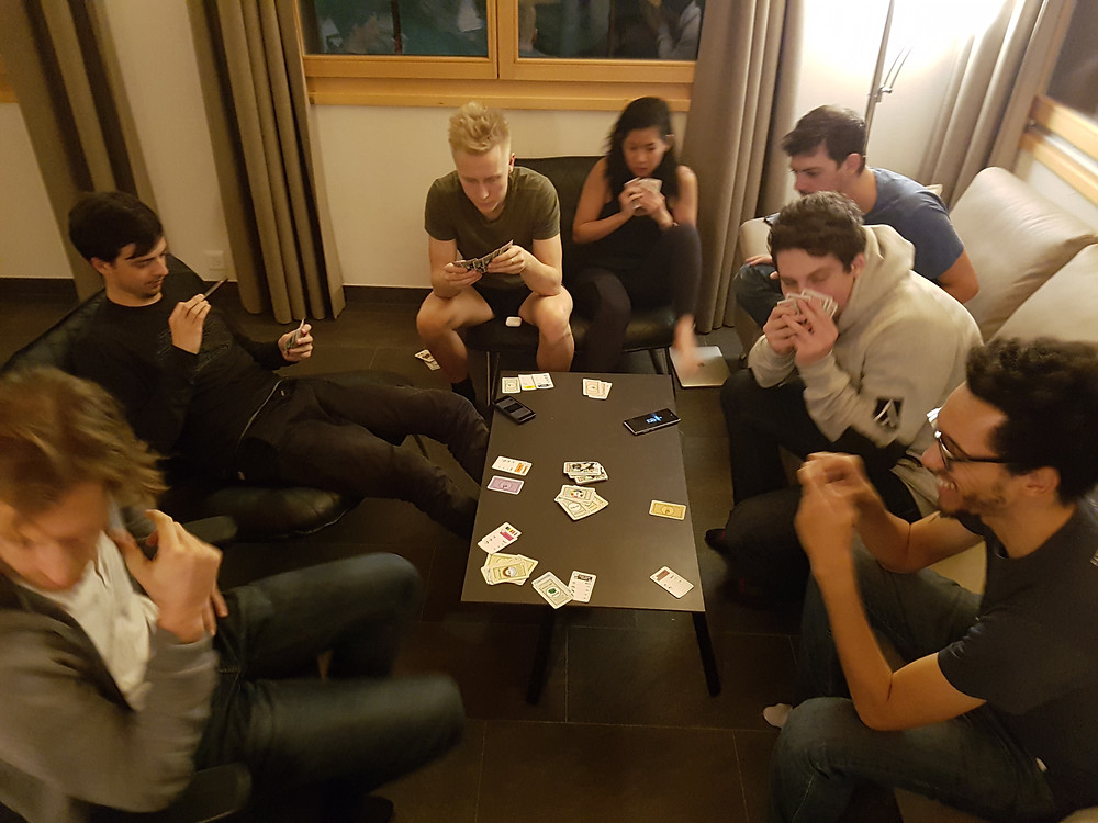 playing Monopoly at Swiss Escape
