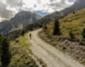 Mountin biking in Grimentz, Switzerland