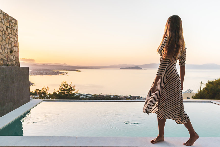 swimming pool at Greek Escape