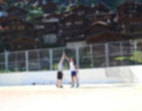 Tennis in Grimentz, Switzerland