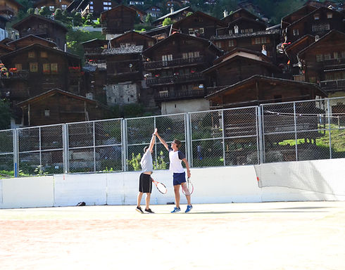 Tennis in Grimentz, Switzerland