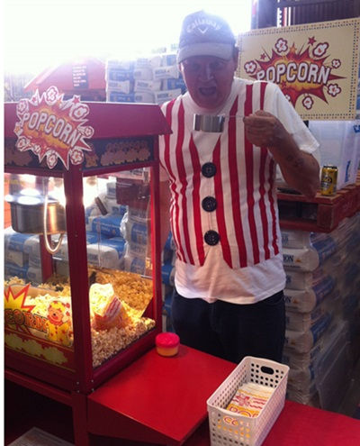 popcorn machine bunnings family night.jp