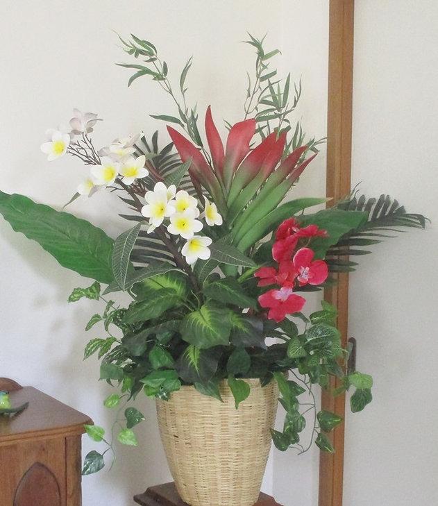 large tiki flower pot 2.JPG