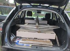 rustic bar packed in car.JPG