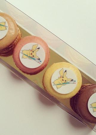 Pikachu macarons pour l'ouverture du Pok