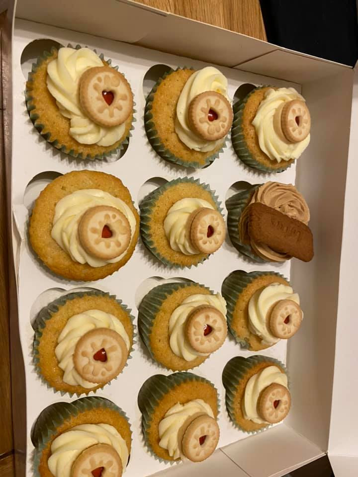 2 x boxes of cupcakes ready for the homeless food run