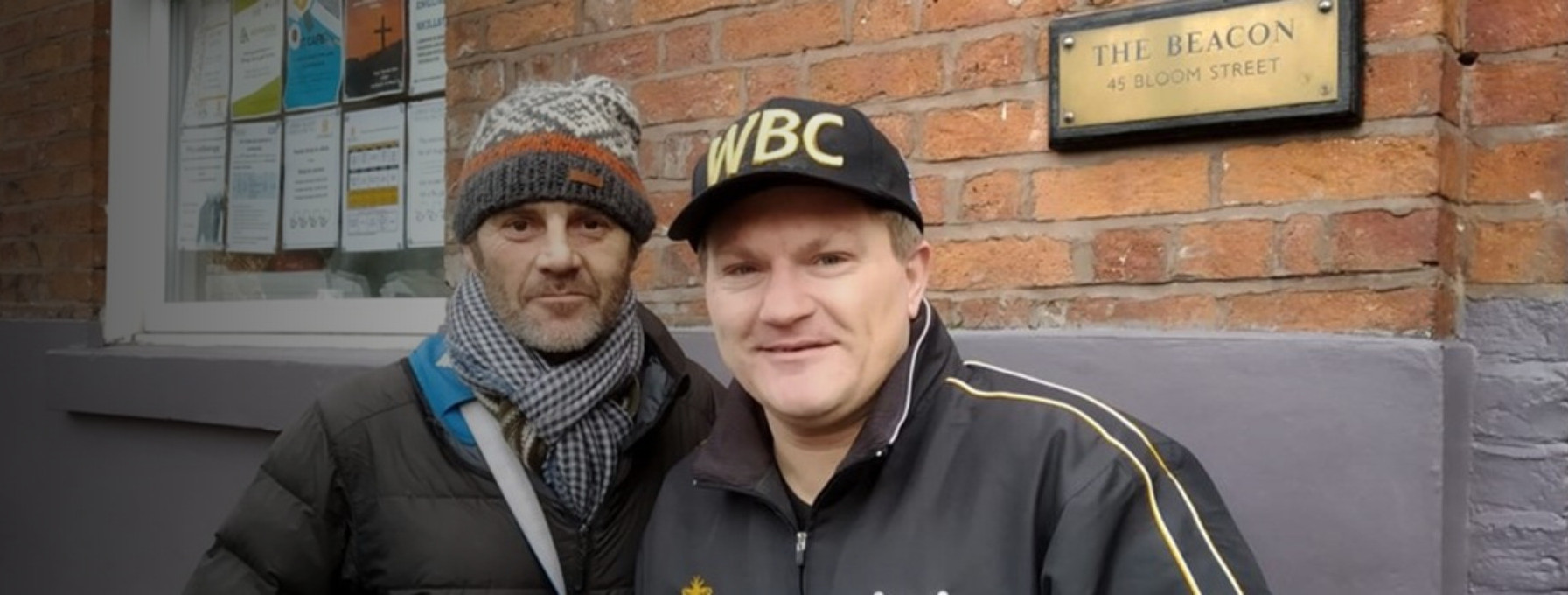 Boxer gives Boxers - Ricky Hatton visits Barnabus
