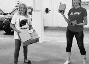Liz has been out and about again sharing The Hope Revolution donations out with Lifeshare!