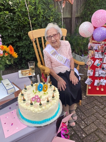 100th Birthday celebrations at The Ridings Care Home