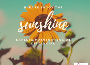 Please enjoy the sunshine ☀️ safely by maintaining social distancing this weekend.