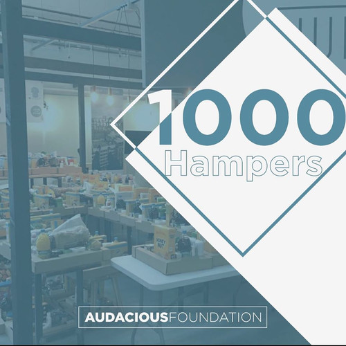 We reached a milestone 1000 emergency food hampers distributed to families in need