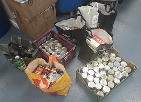 Thank you to Aberford Village Hallfor the kind donation of goods for our foodbank