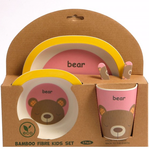 Bamboo Dinner Set - Bashful Bear