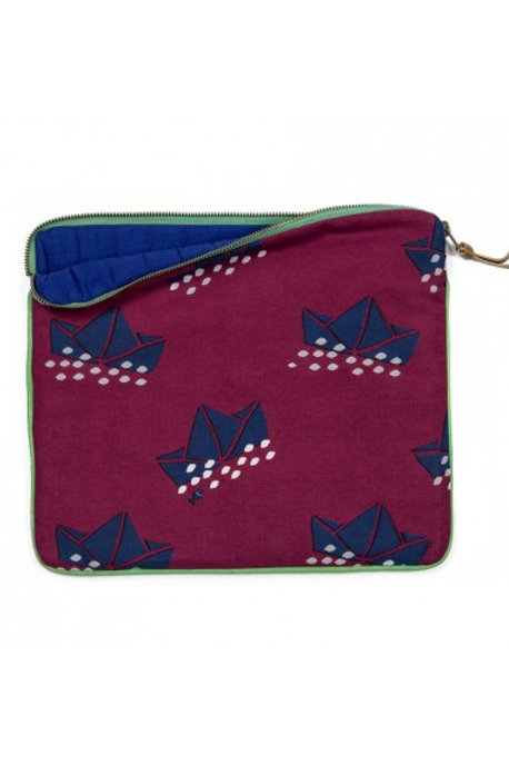 MIMI'lou Padded clutch pouch - Boats