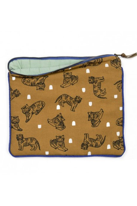 MIMI'lou Padded clutch pouch - Tiger