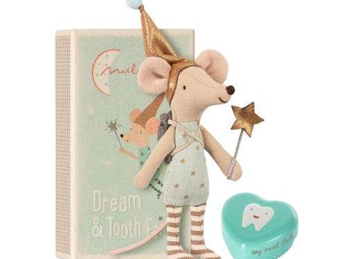 Maileg Tooth Fairy & Tin ~ Blue