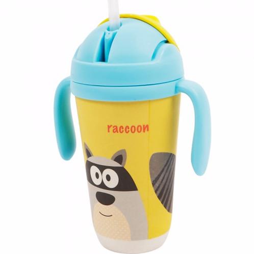 Bamboo Sippy Cup - Rascal Raccon