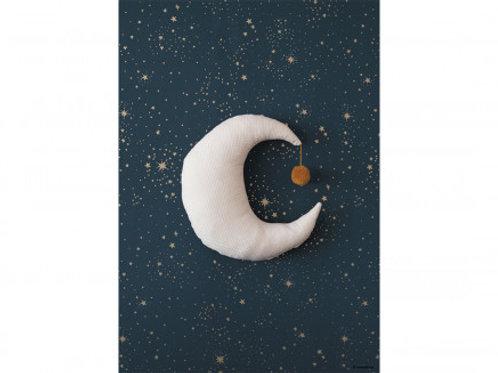 Nobodinoz Moon Organic Cotton Cushion Natural