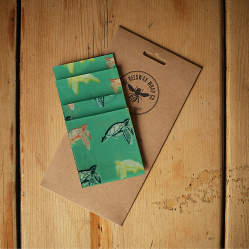 Beeswax Lunch Wrap ~ Turtles