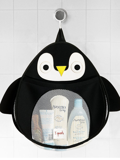 3 Sprouts Bath Tidy - Penguin