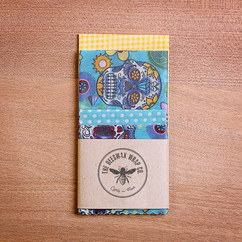 Beeswax Lunch Wraps ~ Mexican Skull