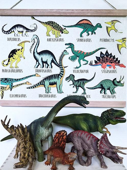 Dinoraw Naming Art A3+