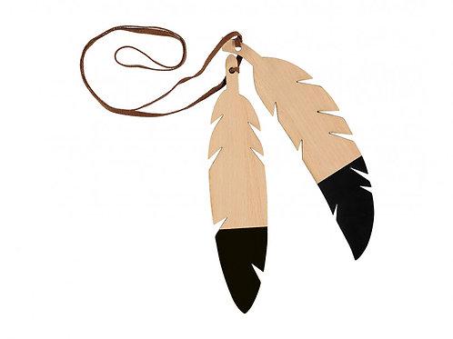 Nobodinoz Black Feather Wooden Garland