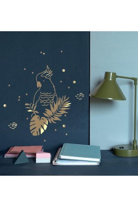MIMI'lou Golden Parrot Wall Sticker