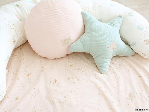 Nobodinoz Aqua Organic Cotton Star Cushion