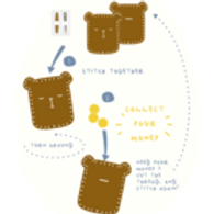 Fabelab Crafts Bear Piggy Bank or Bag