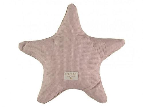 Nobodinoz Dusky Pink Organic Cotton Star Cushion