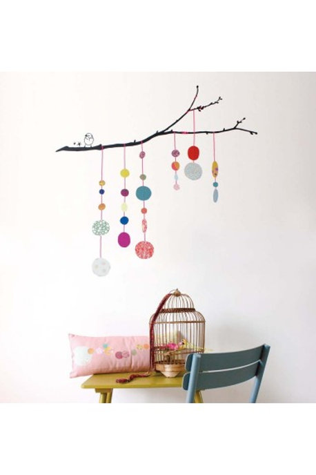 MIMI'lou Bird String of Pearls Wall Stickers