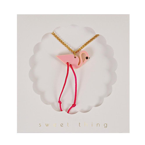 Meri Meri Pink Flamingo Necklace