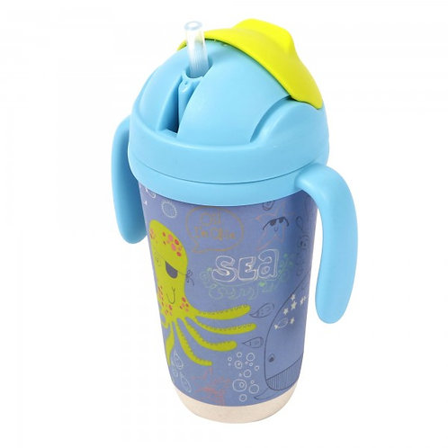 Bamboo Sippy Cup - Pirate Octopus