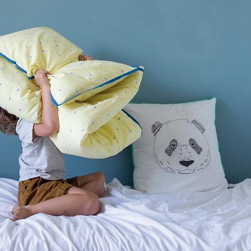 MIMI'lou Hand Embroidered Panda Cushion