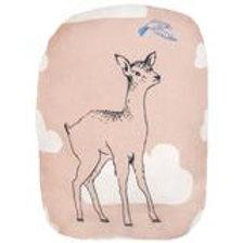 MIMI'lou Bambi Deer & Bird Misty Pink Cushion