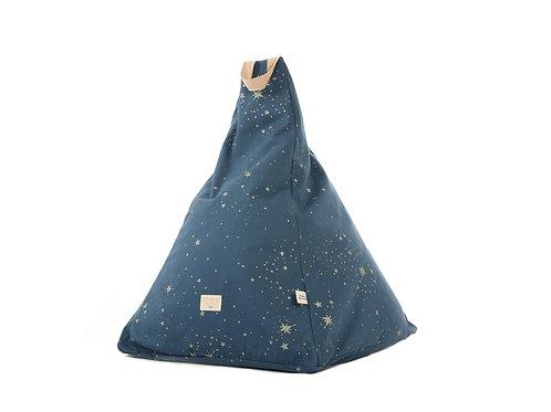 Navy Blue and Gold Star Toddler Bean bag
