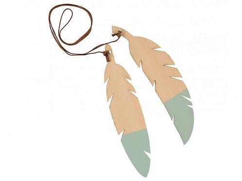 Nobodinoz Green Wooden Feather Garland