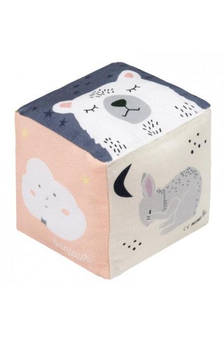 MIMI'lou Large Cotton Cube Rattle