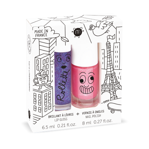 Nailmatic Kids - Rollette Nail Polish Duo Set -Lovely City