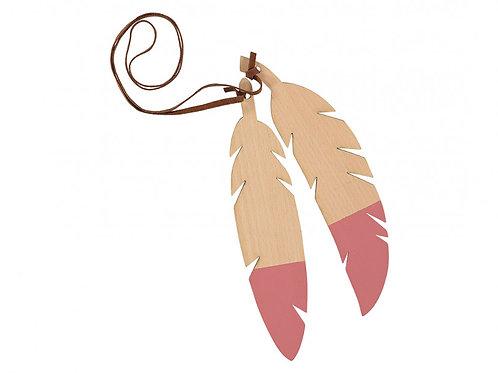 Nobodinoz Pink Feather Wooden Garland