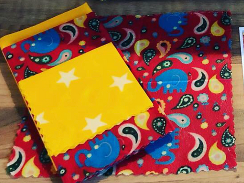 Beeswax Children's Lunch Wraps ~ Elephant & Stars