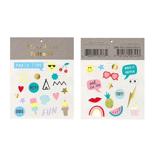 Meri Meri Jazzy Temporary Tattoos