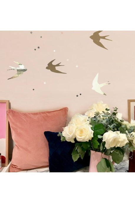 MIMI'lou Gold Swallow Wall Stickers
