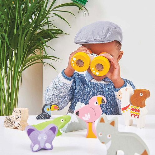 Le Toy Van - Wooden kaleidoscope binoculars