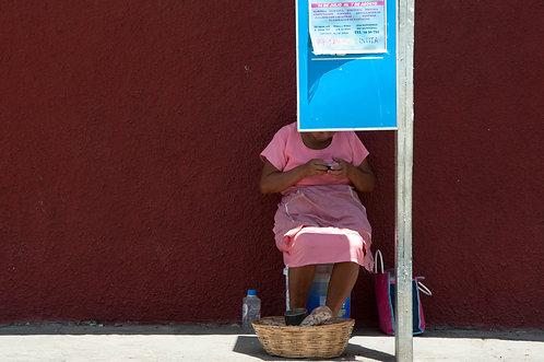 Bus stop Mexicano (Mexique)  Tirage 90 X 60 cm, 135 x 90 plein format, Patrick Raymond