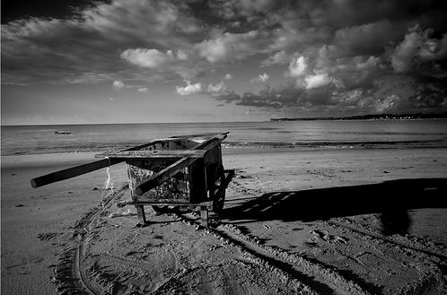 La charette du pêcheur(collection Sacré, Salé, Sucré)  Tirage 90 X 60 cm, 135 x 90 plein format, Patrick Raymond