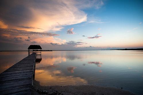 Laguna, El cuyo (Mexique), Tirage 90 X 60 cm, 135 x 90 plein format, Patrick Raymond